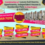 65 Acres DTCP Layout at Kadthal, near Pharma City. Houses & Apartments also.