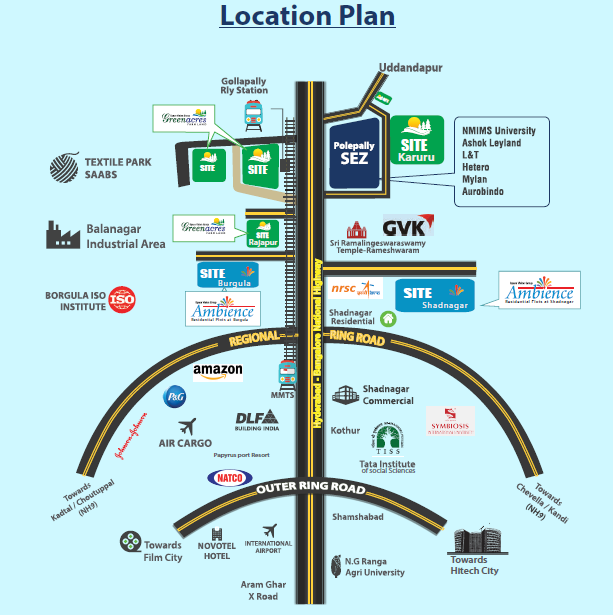 shadnagar venture location map,